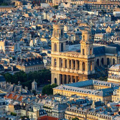 Saint Sulpice Church in Saint Germain Des Pres.