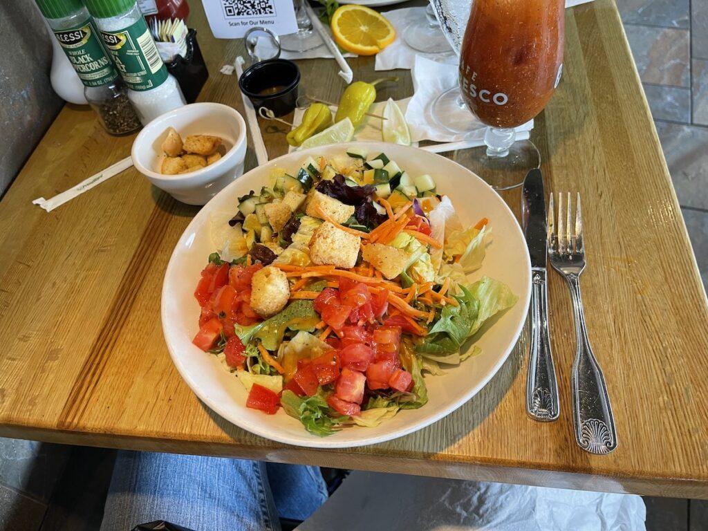 Salad plate at Cafe Alfresco, Dunedin, Florida.