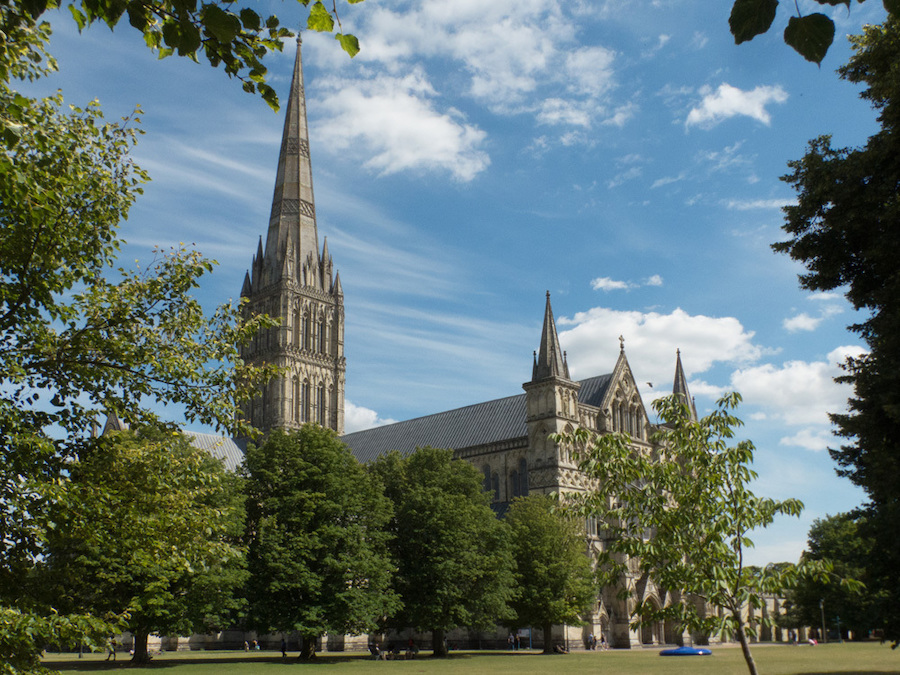 Salisbury Cathedral in England.