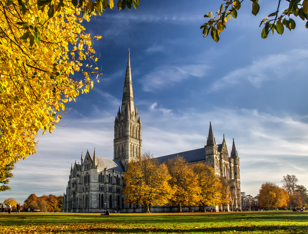 Salisbury Cathedral in the UK.