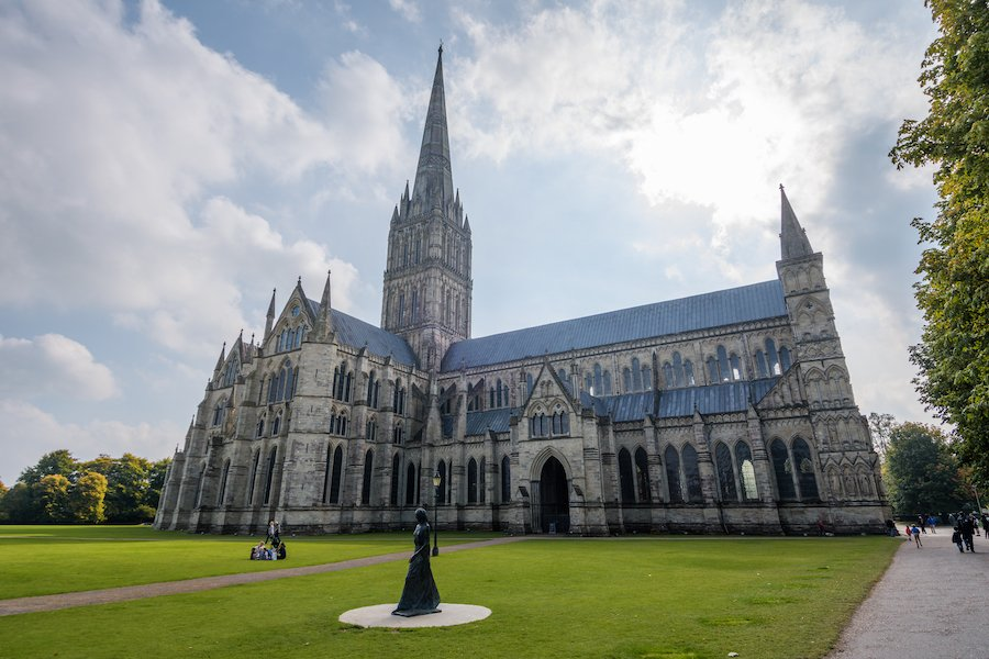 Salisbury Cathedral in Wiltshire, England.