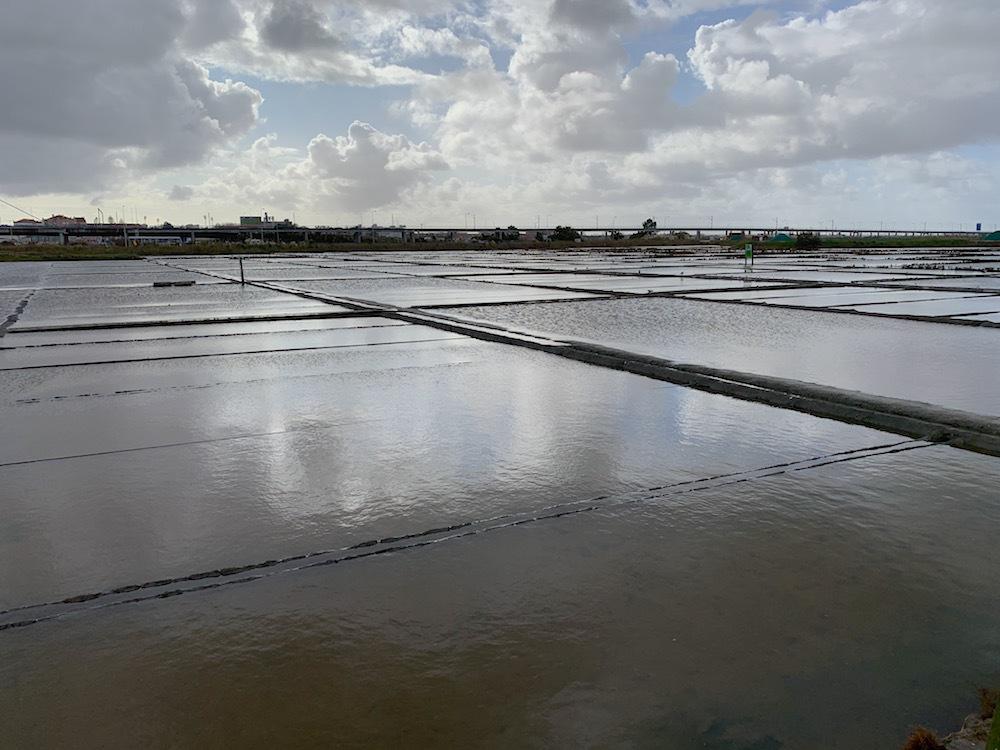 Salt ponds in Aveiro.