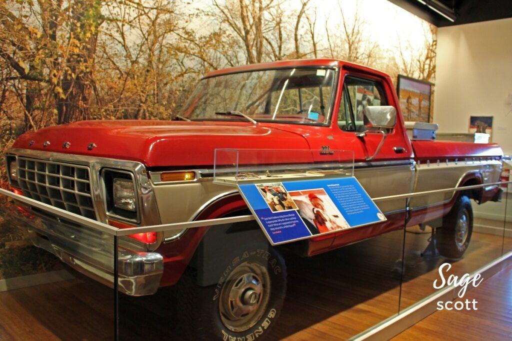 Sam Walton's truck, Walmart Museum, Bentonville, AR.