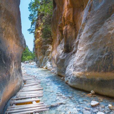 Samaria Gorge in Crete, Greece.