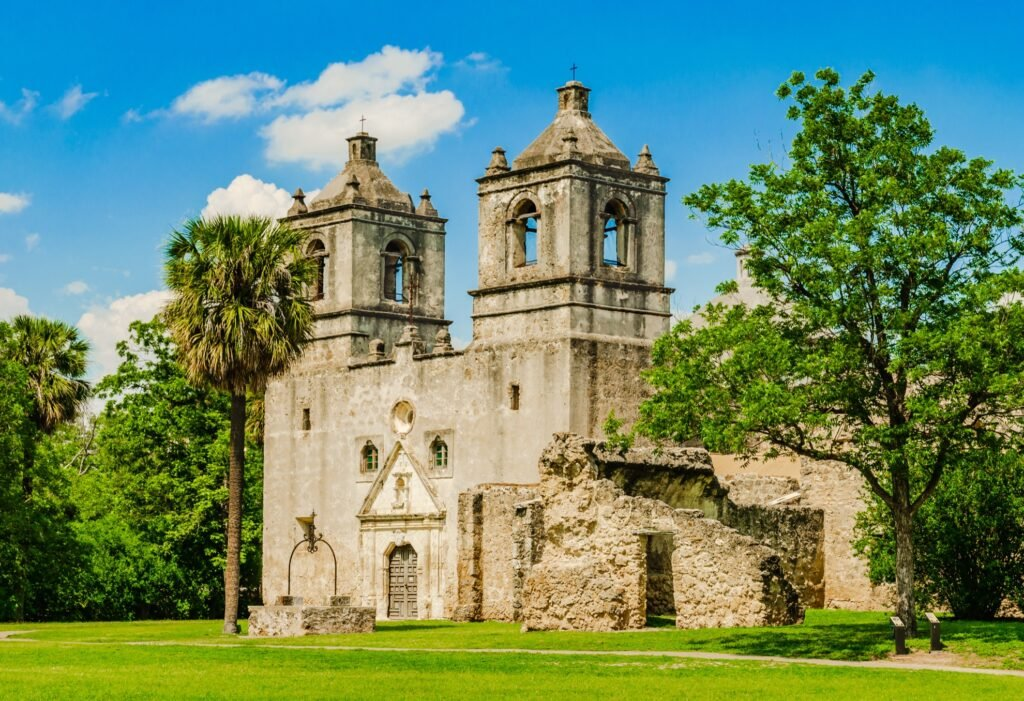 San Antonio Missions National Park in Texas.