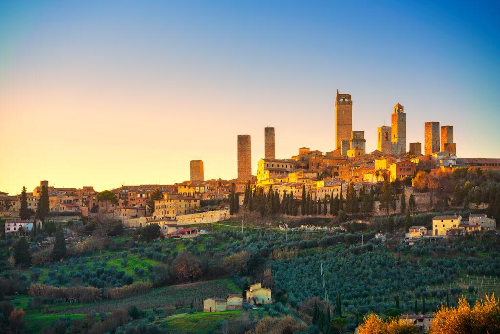 San Gimignano skyline in Italy.