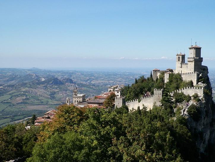 San Marino castle hilltop
