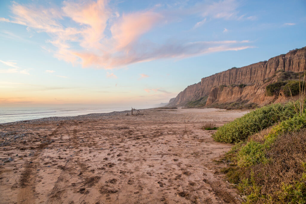 San Onofre State Beach in California.