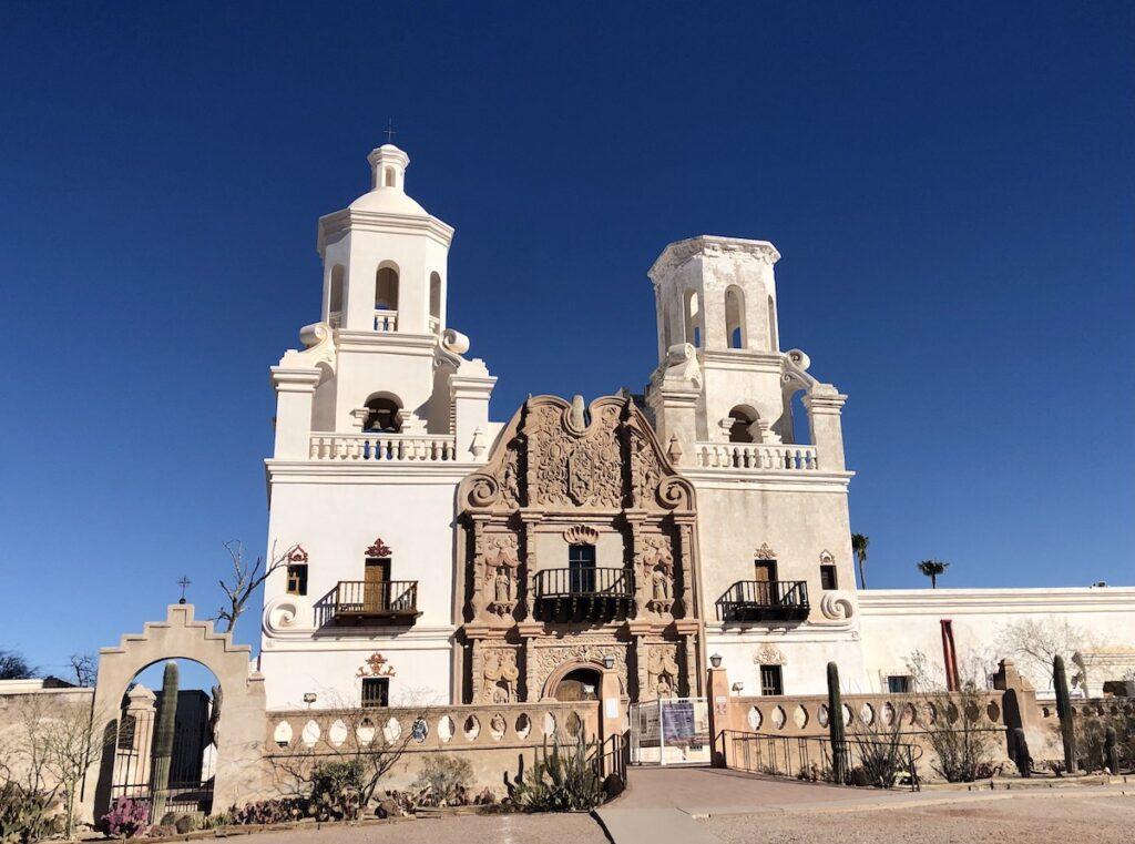 San Xavier del Bac Mission in Arizona.