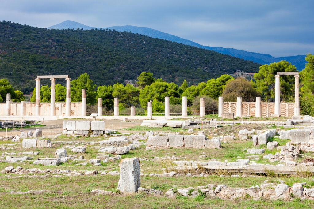 Sanctuary of Asclepius, Epidaurus, Greece.