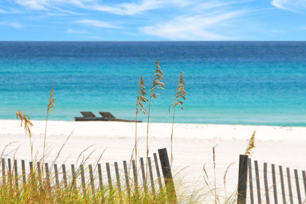 Sand and ocean views at Emerald Beach.