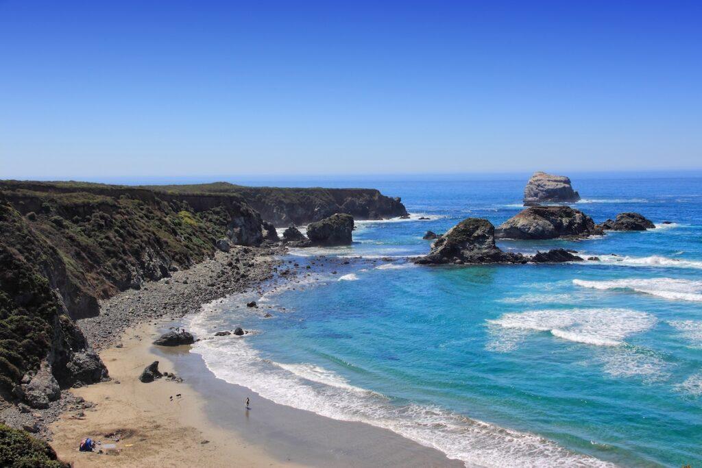 Sand Dollar Beach in Big Sur, California.