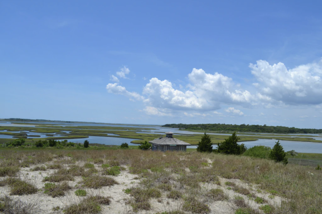 Sands Island Refuge on Emerald Isle, North Carolina.