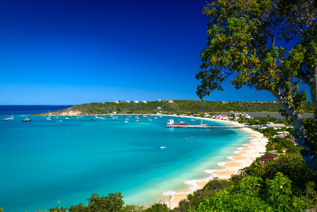Sandy Ground on the island of Anguilla in the Caribbean.