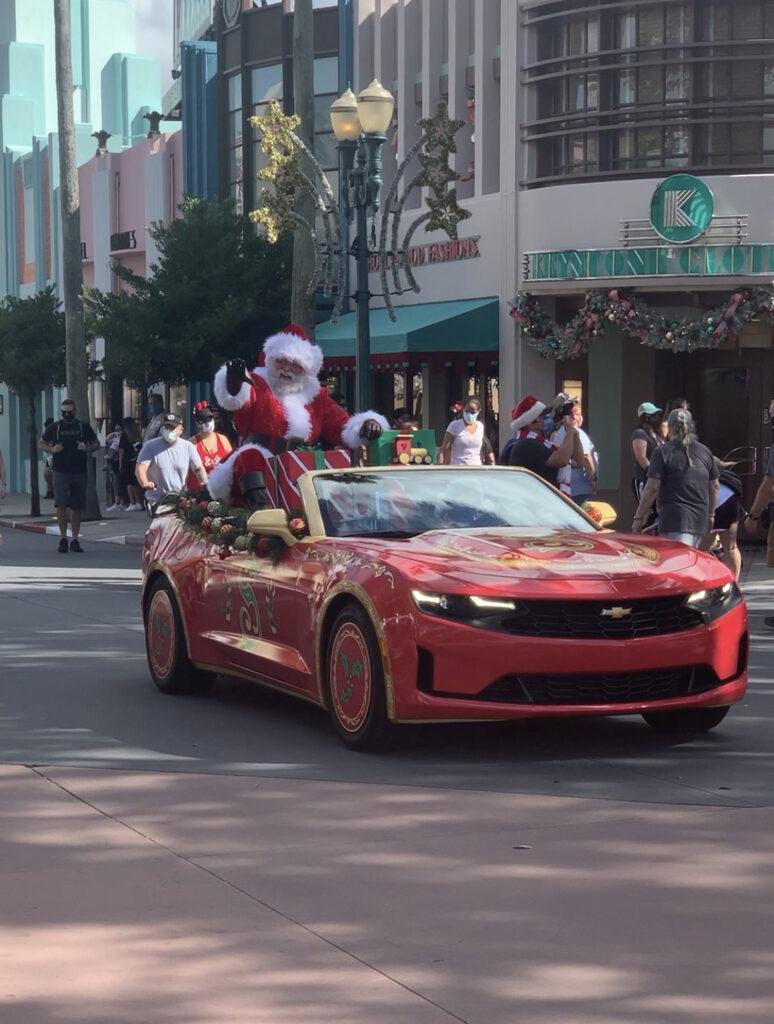 Santa at a Hollywood Studios cavalcade.