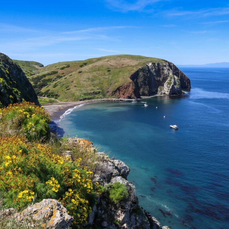 Santa Cruz Island in Channel Islands National Park, California.