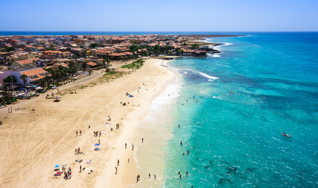 Santa Maria beach on Sal Island, Cape Verde.