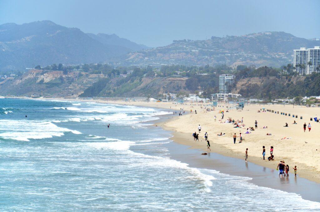 Santa Monica Beach in California.