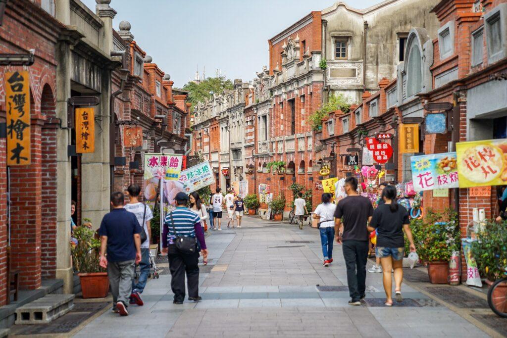 Sanxia Old Street in Taipei.