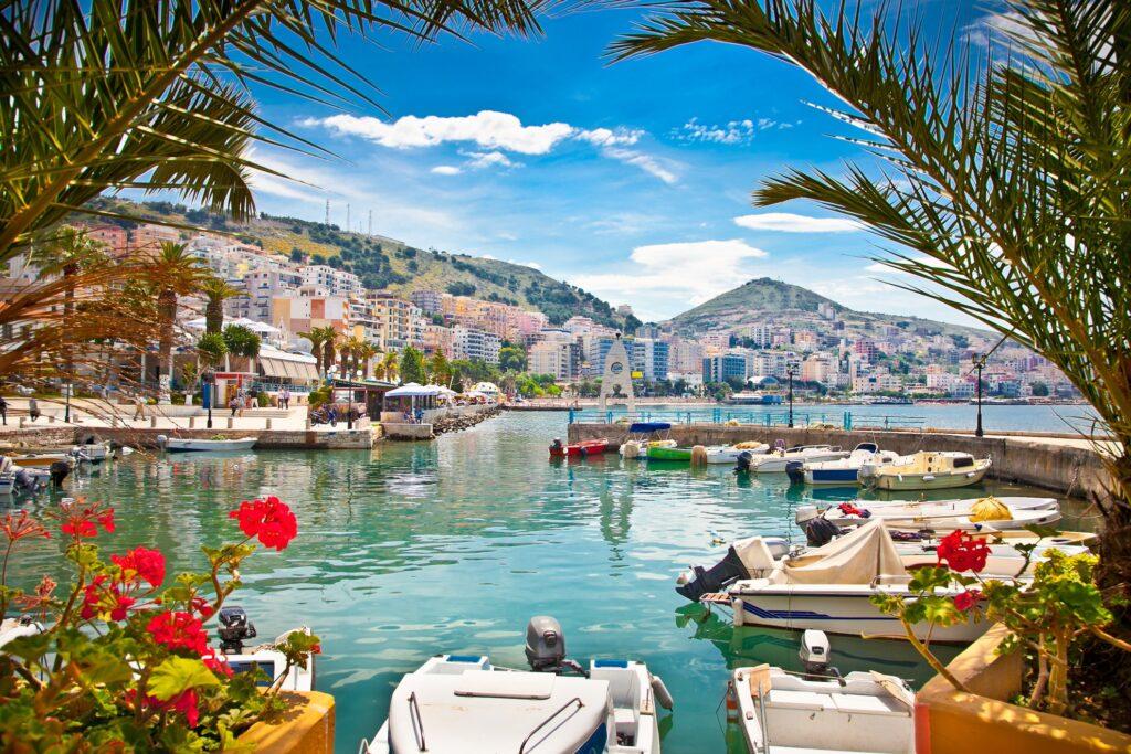 Saranda's City Port in Albania.