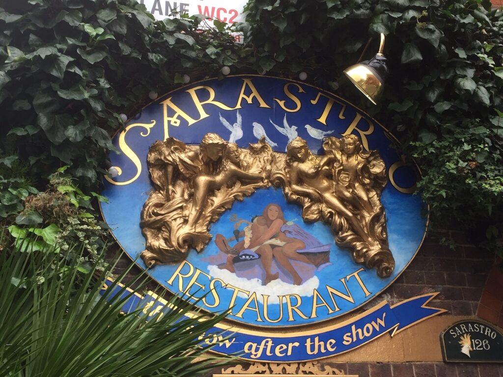 Sarastro, a popular restaurant at Covent Garden.