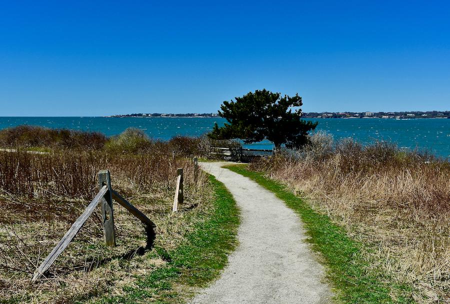 Sauchest Point National Wildlife Refuge Trail in Rhode Island.