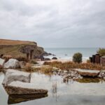 The natural pool at The Scarlett, Cornwall.