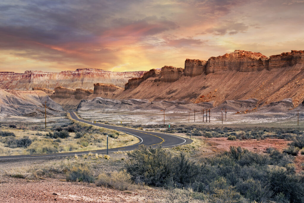 Scenic Byway 12 in Capitol Reef National Park.