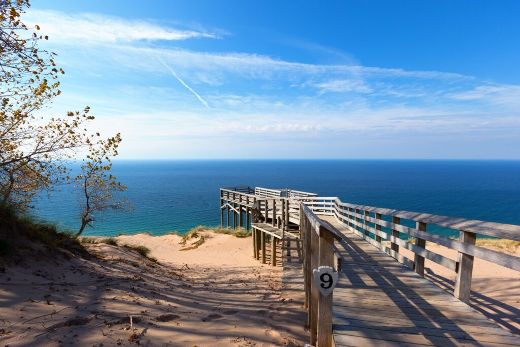 Scenic Overlook 9 in Sleeping Bear Dunes.