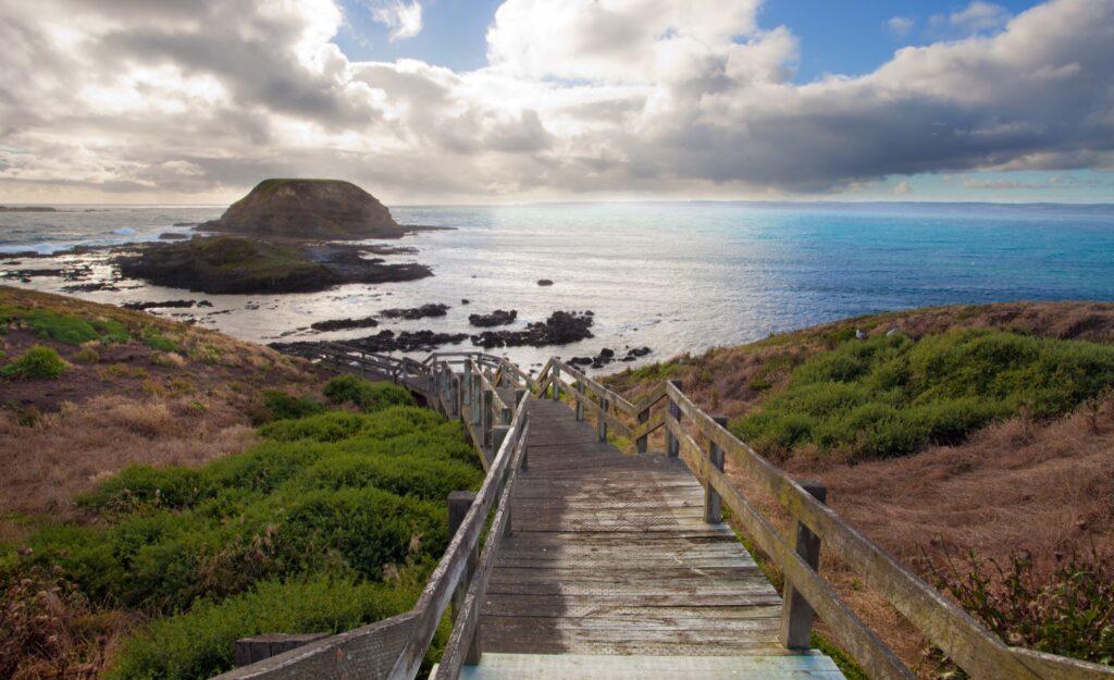 Scenic Phillip Island in Australia.