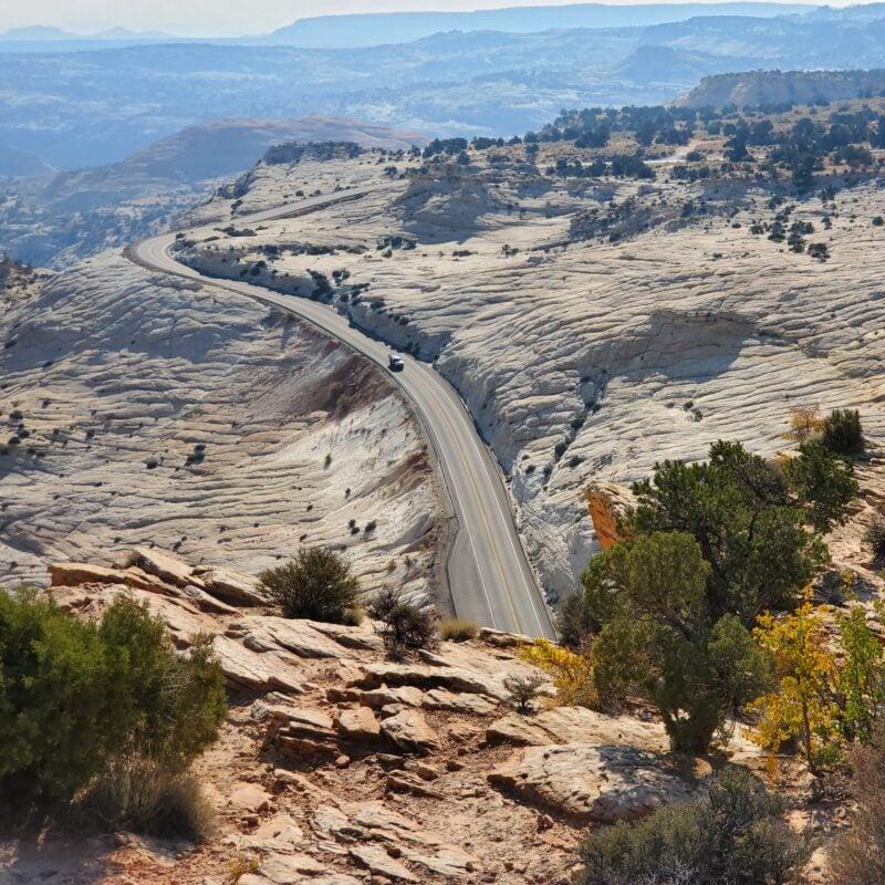 Scenic views along Route 12 in Utah.