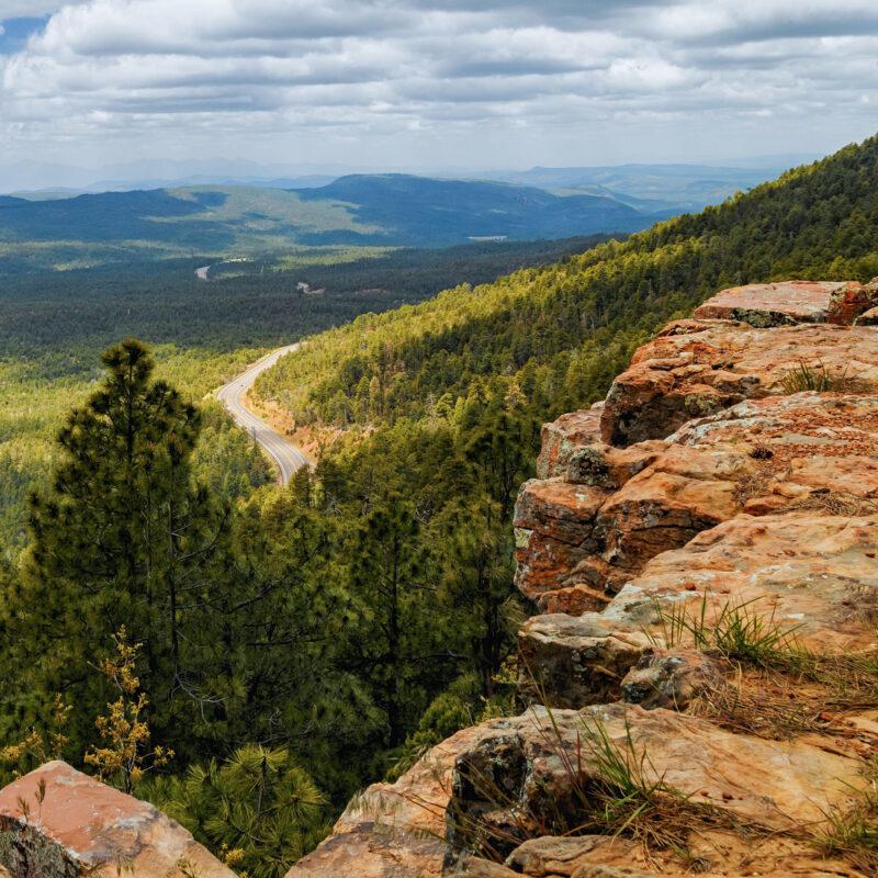 Scenic views from the Mogollon Rim near Payson, Arizona.