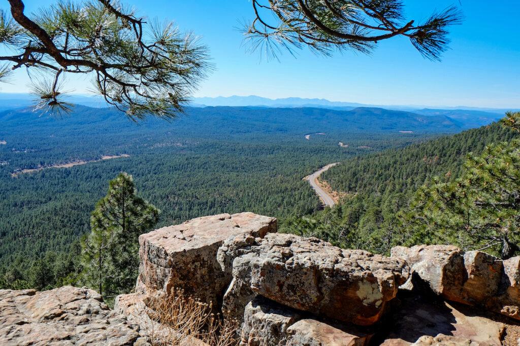 Scenic views from the Mogollon Rim in Arizona.