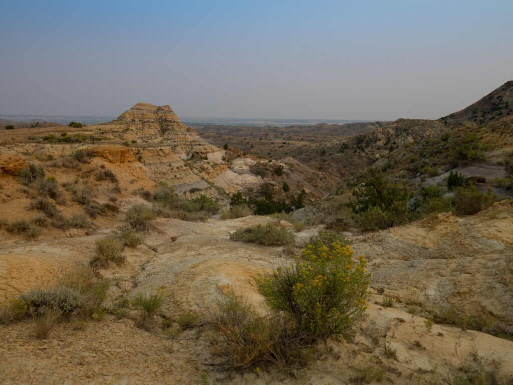 Scenic views of Terry Badlands in Montana.