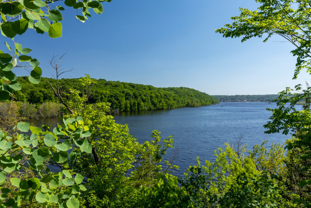 Scenic views of the St. Croix River in Minnesota.