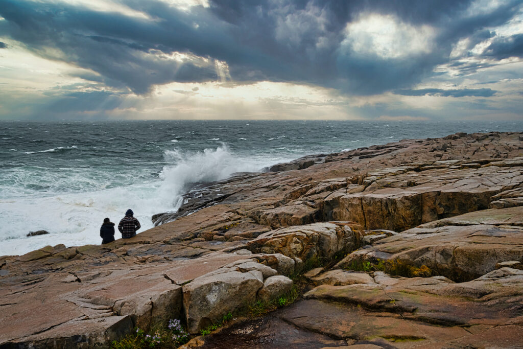 Schoodic Point in Acadia National Park.