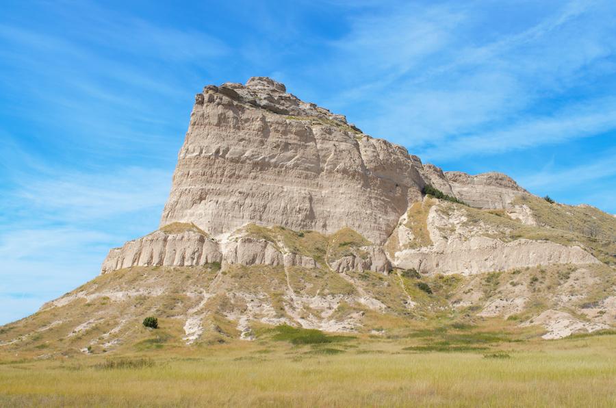 Scotts Bluff National Monument in Mitchell, Nebraska.
