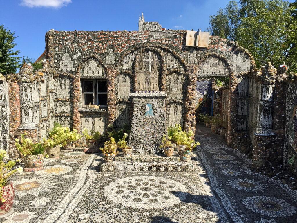 Sculptures and mosaics at Maison Picassiette.