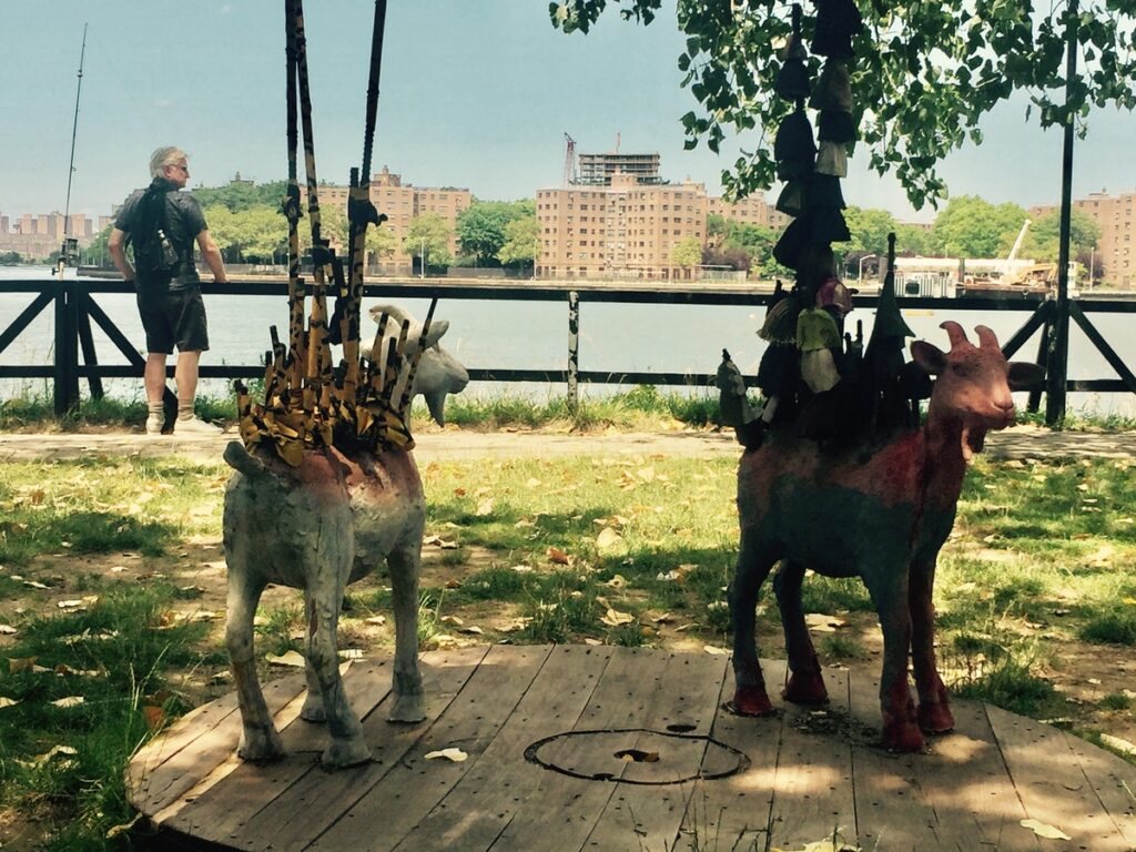Sculptures at the Socrates Sculpture Park.