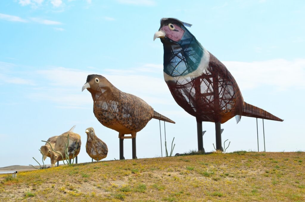 Sculptures of birds along the Enchanted Highway.