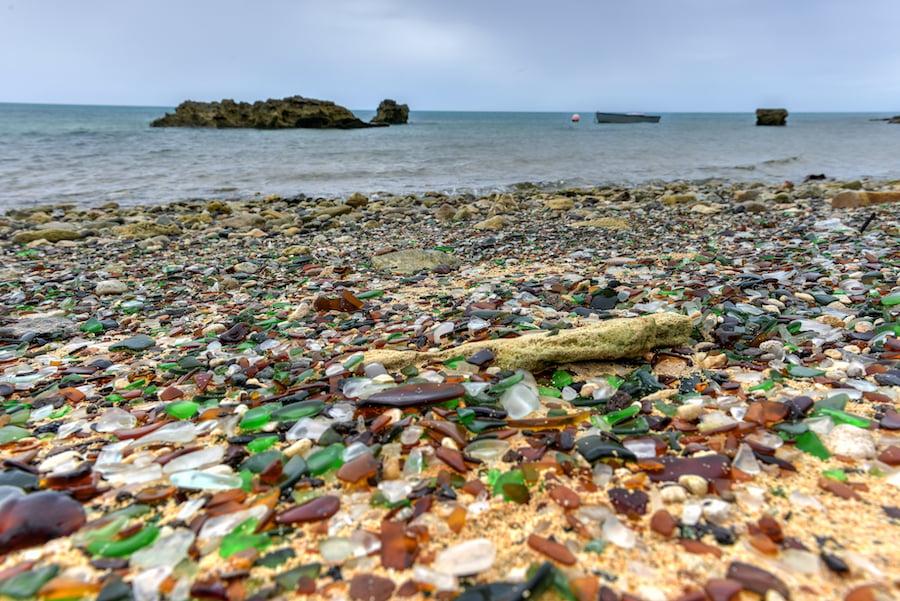 Sea Glass Beach in Bermuda.