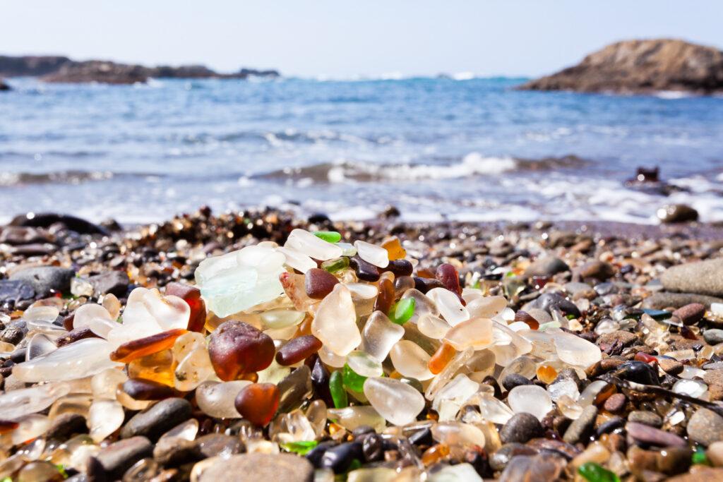 Sea Glass Beach in California.
