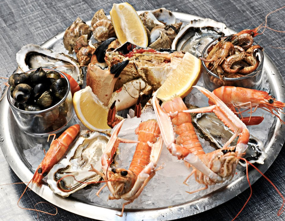 Seafood from Le Petit Commerce in Bordeaux.
