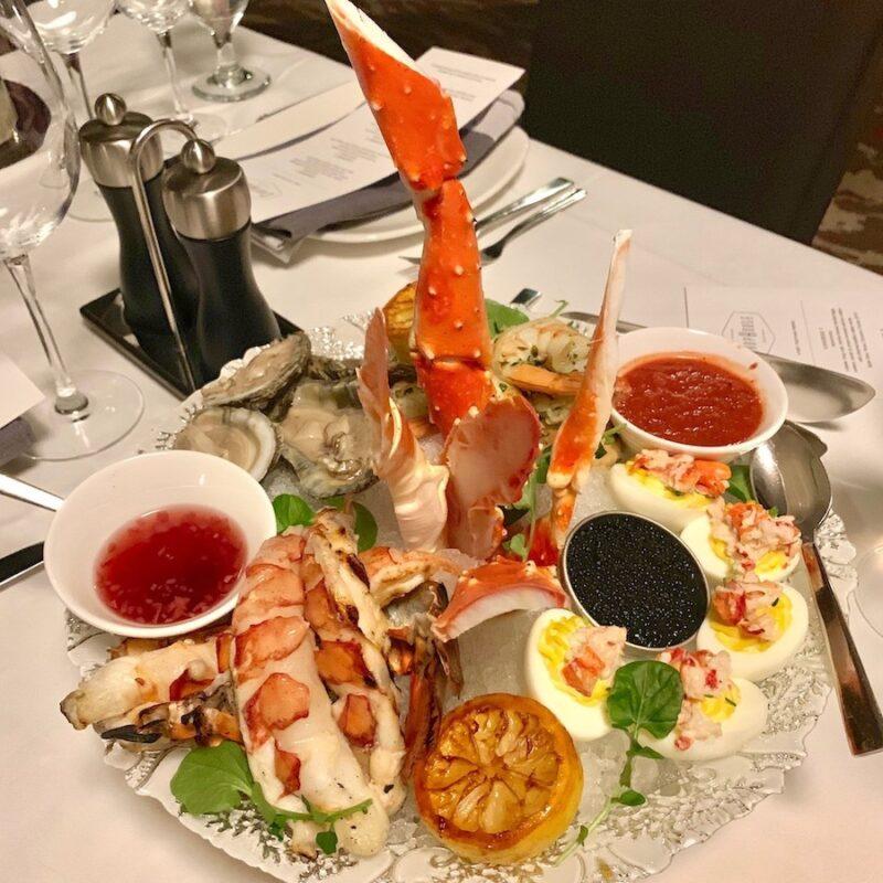 Seafood platter from Geneva ChopHouse.