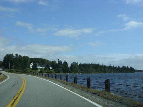 Seaside road leading into Pubnico