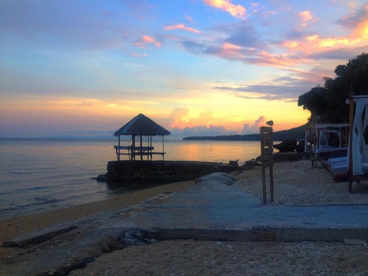 Seaside views from Noordzee Beach Hostel, Boljoon, Philippines