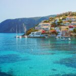 Seaside views of Lefkada, Greece.