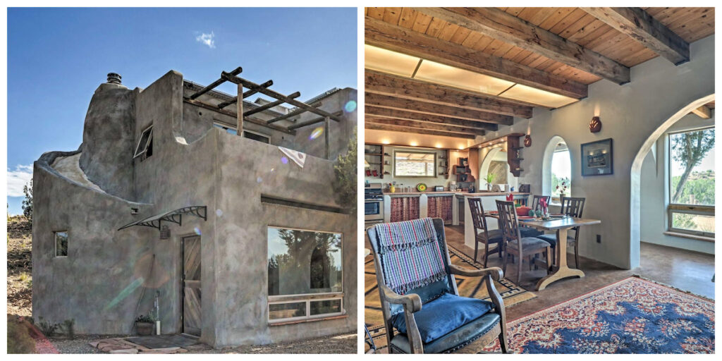 Secluded House With Desert Views in San Ysidro, New Mexico.