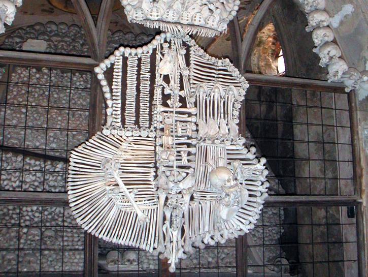 Sedlec ossuary coat of arms made of bones