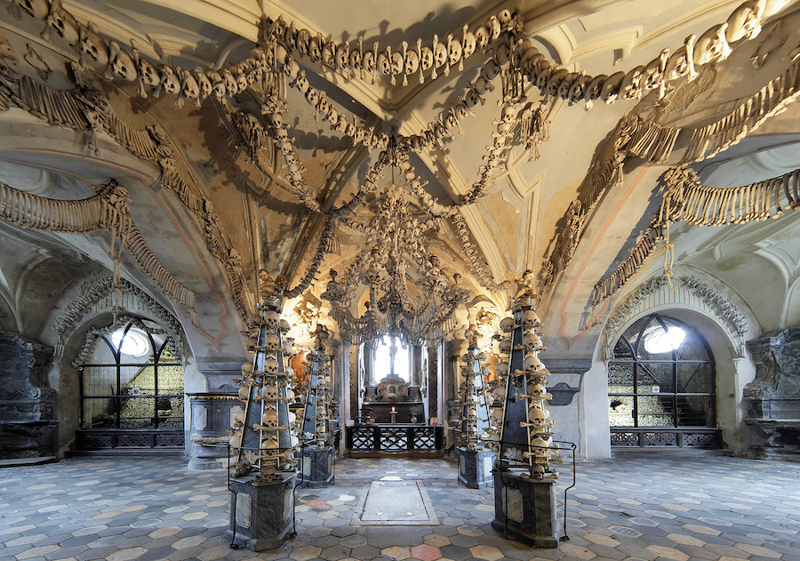 Sedlec Ossuary in Kutna Hora, Czech Republic.